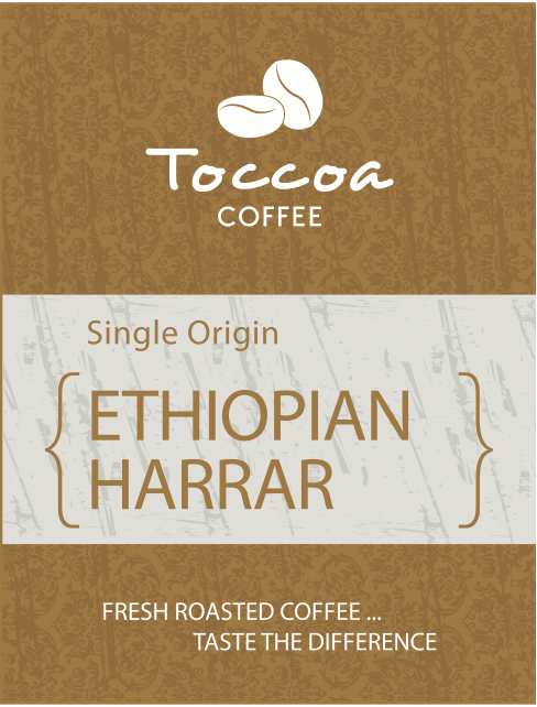 Toccoa Coffee Granger Indiana Fresh Roasted Ethiopian Harrar