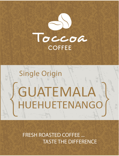 Toccoa Coffee Guatemala Huehuetenango Fresh Roasted Coffee